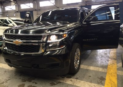 ARMORED CHEVROLET SUBURBAN LT HIGH POWERED RIFLE PROTECTION